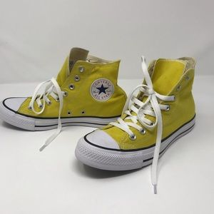 Converse All Star yellow high tops